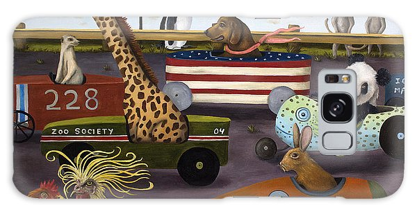 Meerkat Galaxy S8 Case - Soap Box Derby by Leah Saulnier The Painting Maniac