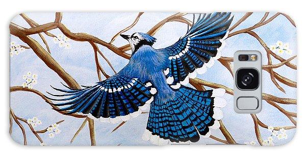 Soaring Blue Jay  Galaxy Case by Teresa Wing