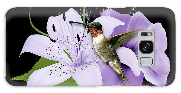 Galaxy Case featuring the mixed media Soaring Hummingbird by Marvin Blaine