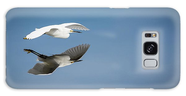 Soaring Over Still Waters Galaxy Case