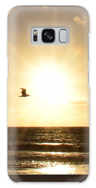 Soaring Seagull Sunset Over Imperial Beach Galaxy Case by Karen J Shine