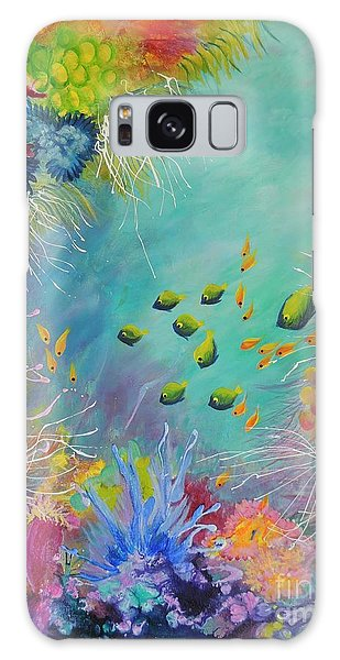 Soft And Hard Reef Corals Galaxy Case