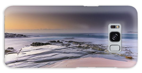 Soft And Rocky Sunrise Seascape Galaxy Case