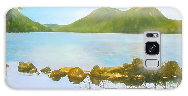 Soft Art Photograph Jordan Pond Acadia Nat. Park Maine Galaxy Case