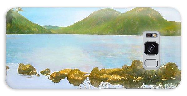 Soft Art Photograph Jordan Pond Acadia Nat. Park Maine Galaxy Case