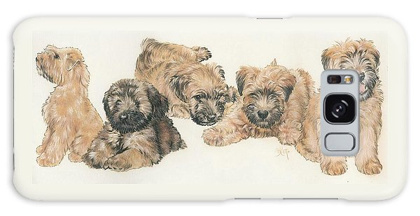 Soft-coated Wheaten Terrier Puppies Galaxy Case by Barbara Keith
