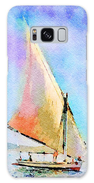 Galaxy Case featuring the painting Soft Evening Sail by Angela Treat Lyon
