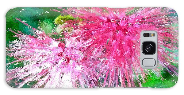 Soft Pink Flower Galaxy Case