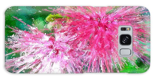 Soft Pink Flower Galaxy Case by Joan Reese