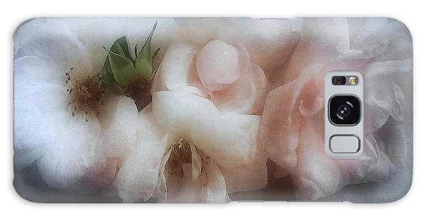 Soft Pink Roses Galaxy Case by Louise Kumpf