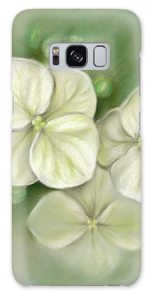 Soft Summer Hydrangea Blossoms Galaxy Case
