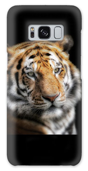 Soft Tiger Portrait Galaxy Case