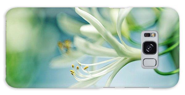 Floral Garden Galaxy Case - Soft White by Nailia Schwarz