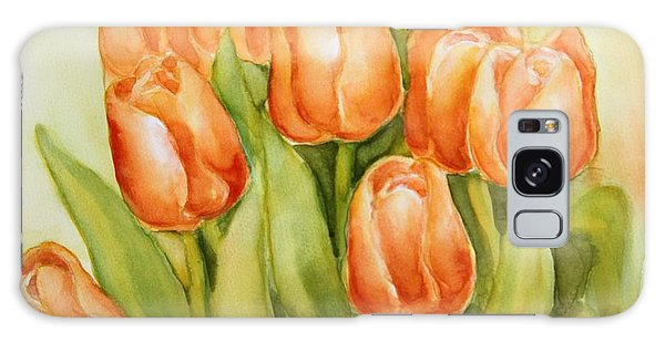 Soft Yellow Spring Tulips Galaxy Case