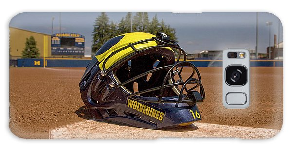 Softball Catcher Helmet Galaxy Case