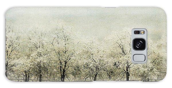 Softly Falling Snow Galaxy Case