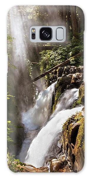 Galaxy Case featuring the photograph Sol Duc Falls by Adam Romanowicz