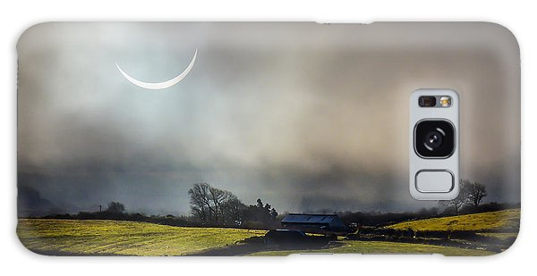 Solar Eclipse Over County Clare Countryside Galaxy Case