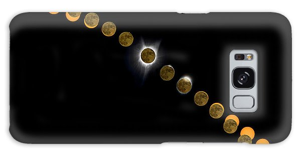 Solar Eclipse Stages 2017 Galaxy Case