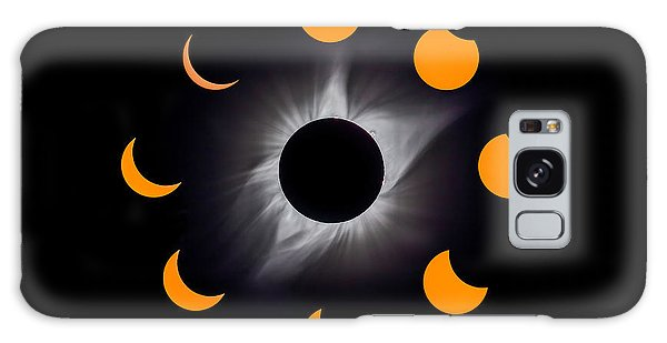 Solar Eclipse Stages Galaxy Case