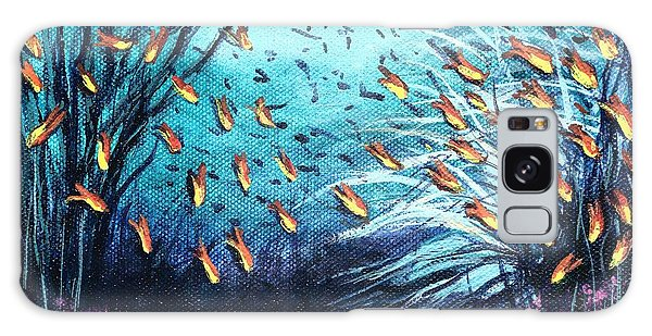 Soldier Fish And Coral  Galaxy Case