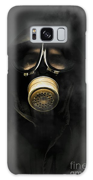 Breathe Galaxy Case - Soldier In Gas Mask by Jorgo Photography - Wall Art Gallery