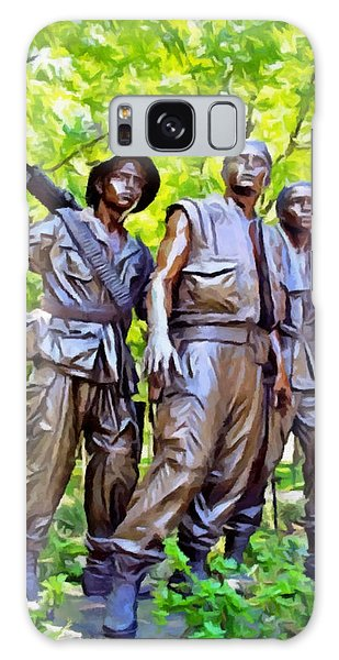 Soldiers Statue At The Vietnam Wall Galaxy Case