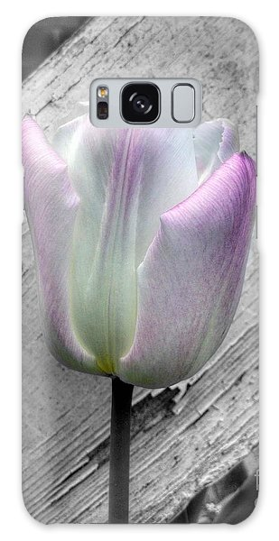 Solitary Pink Whisper Tulip Galaxy Case