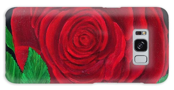 Solitary Red Rose Galaxy Case