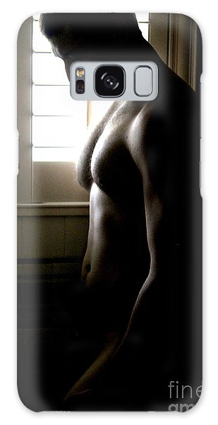 Solitary Window Pose Galaxy Case
