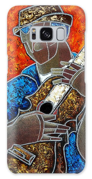Galaxy Case featuring the painting Solo De Cuatro by Oscar Ortiz