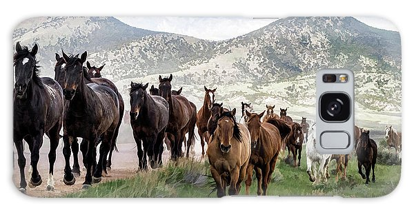 Sombrero Ranch Horse Drive, An Annual Event In Maybell, Colorado Galaxy Case