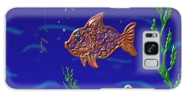 Something Fishy Galaxy Case by Kevin Caudill