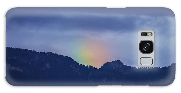 Sometimes The Rainbow Is On The Other Side Of The Mountain Galaxy Case by Colleen Williams