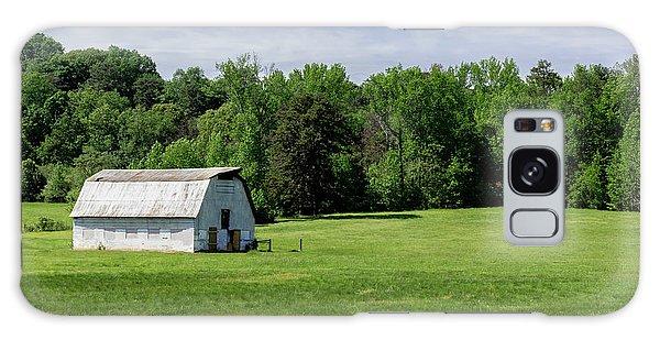 Barn In Green Pasture Galaxy Case