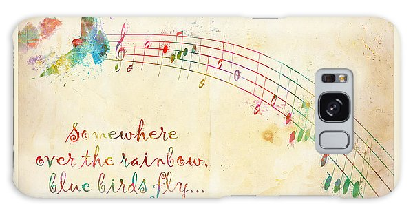 Somewhere Over The Rainbow Galaxy Case by Nikki Smith