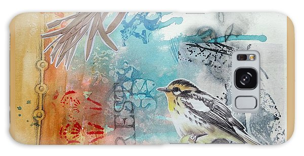 Galaxy Case featuring the mixed media Song Of Life  by Rose Legge