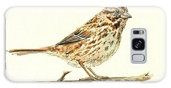 Sparrow Galaxy Case - Song Sparrow by Juan  Bosco