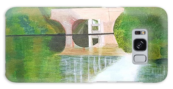 Sonning Bridge In Autumn Galaxy Case