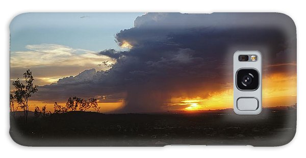 Sonoran Desert Thunderstorm Galaxy Case