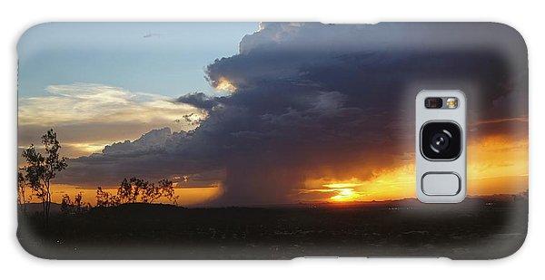 Sonoran Desert Thunderstorm Galaxy Case