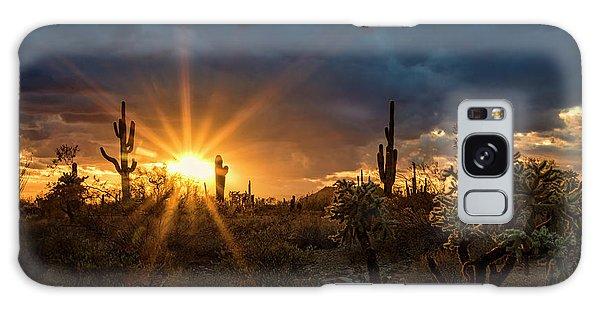 Galaxy Case featuring the photograph Sonoran Gold At Sunset  by Saija Lehtonen