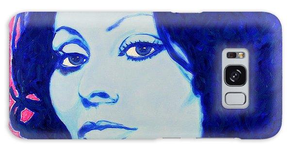Sophia Loren Pop Art Portrait Galaxy Case