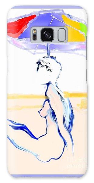 Sophi's Umbrella #2 - Female Nude Galaxy Case by Carolyn Weltman