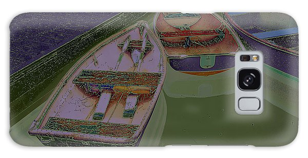 Galaxy Case featuring the photograph Sorrento Harbor Boats With Sabattier by Bill Barber