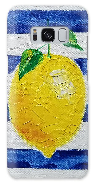Galaxy Case featuring the painting Sorrento Lemon by Judith Rhue