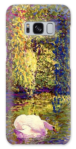 Impressionism Galaxy S8 Case - Swans, Soul Mates by Jane Small