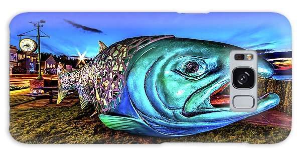 Soul Salmon During Blue Hour Galaxy Case by Rob Green
