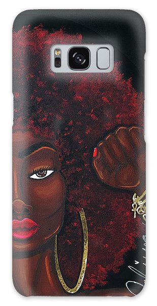 Galaxy Case featuring the painting Soul Sista by Aliya Michelle