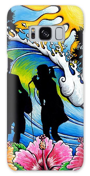 Sound Waves Galaxy Case